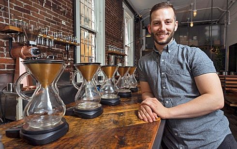 Revolver Coffee wins Gold for Best Downtown Coffee Shop.