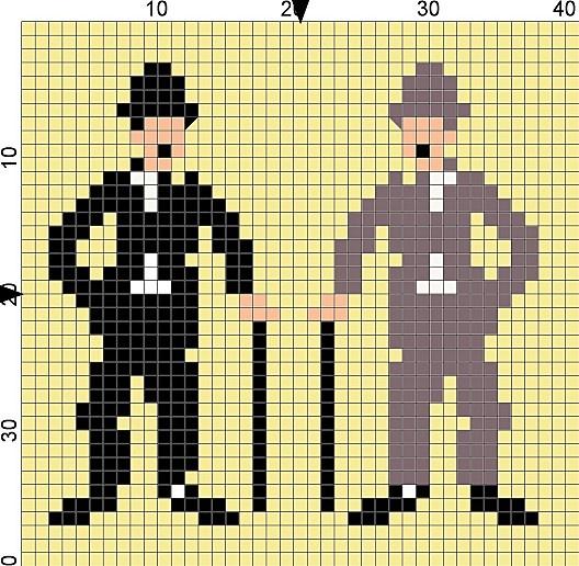 Mini charlot ou bordure à la Chaplin