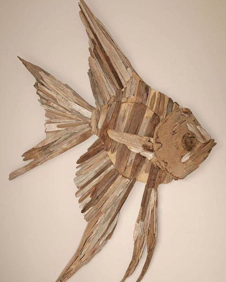 17 best ideas about driftwood art on pinterest driftwood for Fish wall sculptures