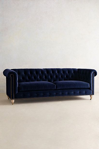 Velvet Sofa - 12 colours to choose from. I love the navy though.