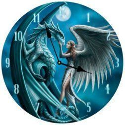 Moon wall art is enchanting, trendy and absolutely beautiful. Spruce up your home with these beautiful pieces of moon home décor. Moon home wall art décor is timeless and symbolizes balance, enlightenment and eternity. Moon wall art is truly timeless   Anne Stokes Silver Wall Clock Gothic Dragon Fairy Moon