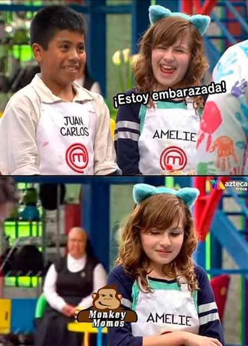 Los mejores memes de Juan Carlos y Amelie de Master Chef Junior México.
