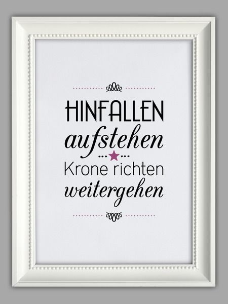 """""""HINFALLEN, AUFSTEHEN, KRONE RICHTEN"""" Kunstdruck von Smart-Art Kunstdrucke auf DaWanda.com"""