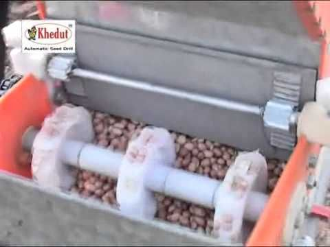 Ox operated automatic seed drill  Om agro - YouTube