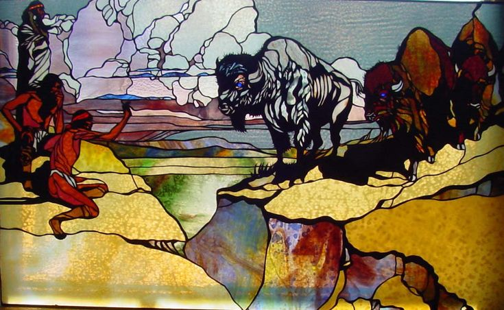 southwestern stained glass | White Buffalo