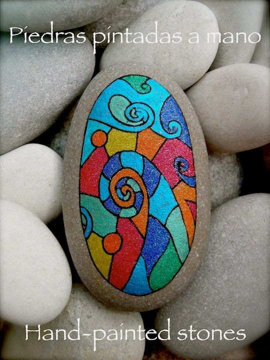 A pretty design that reminds me of stained glass!.