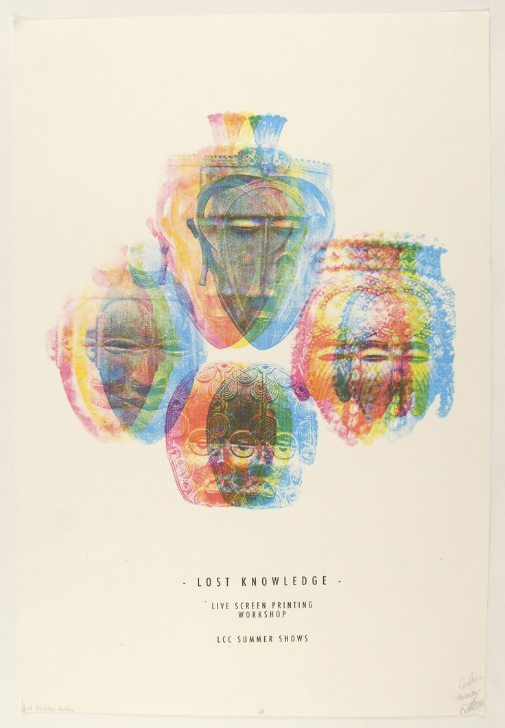Lost knowledge summer shows workshop cmyk screen print series of 5