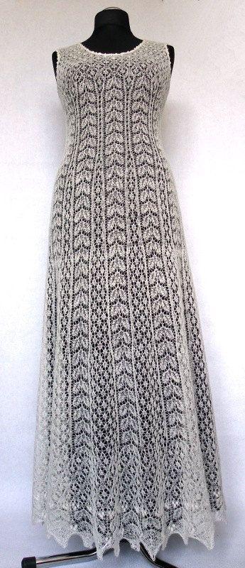 Hand gestrickte festlich / Hochzeit Kleid feine von ByRees auf Etsy