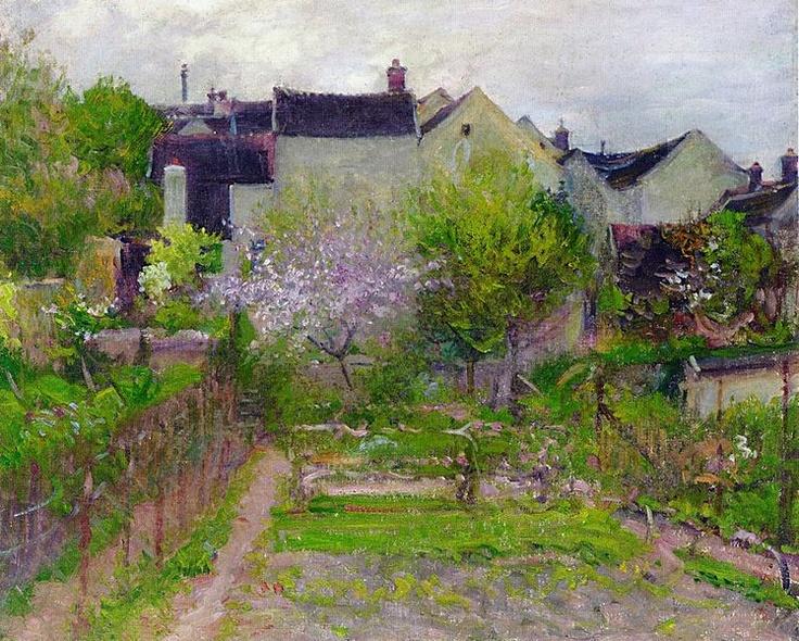 Robert Vonnoh (1858–1933):  'Grez-sur-Loing'