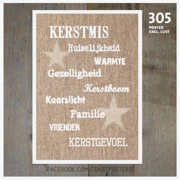 Kerstposter kerstmis 305