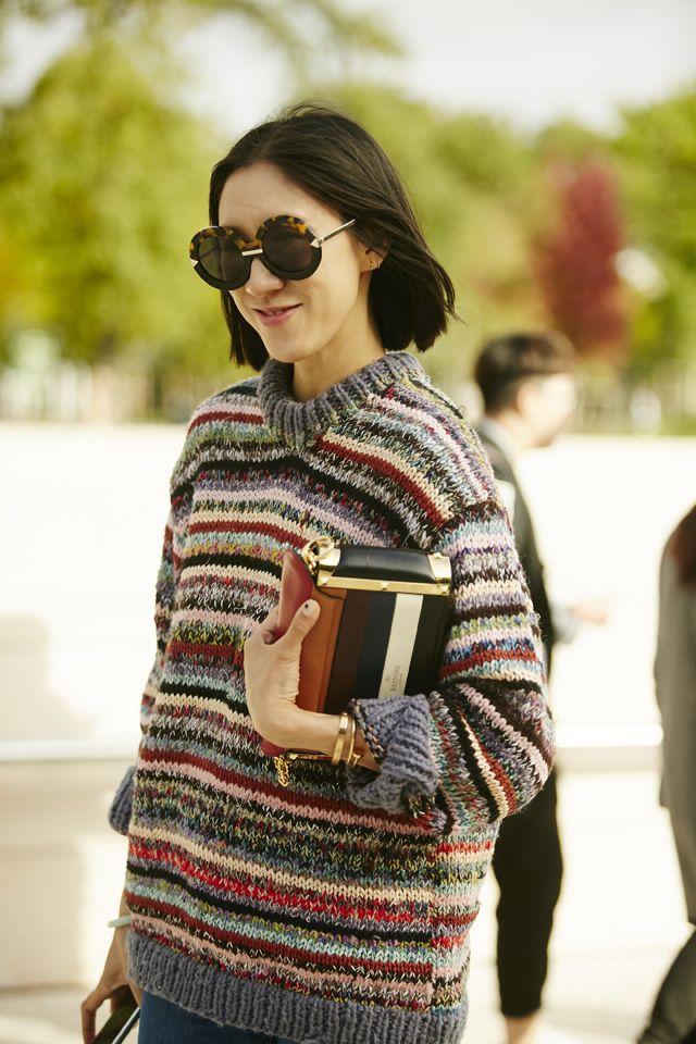 Неделя моды в Париже, весна-лето 2016: street style. Часть 5 (фото 9)