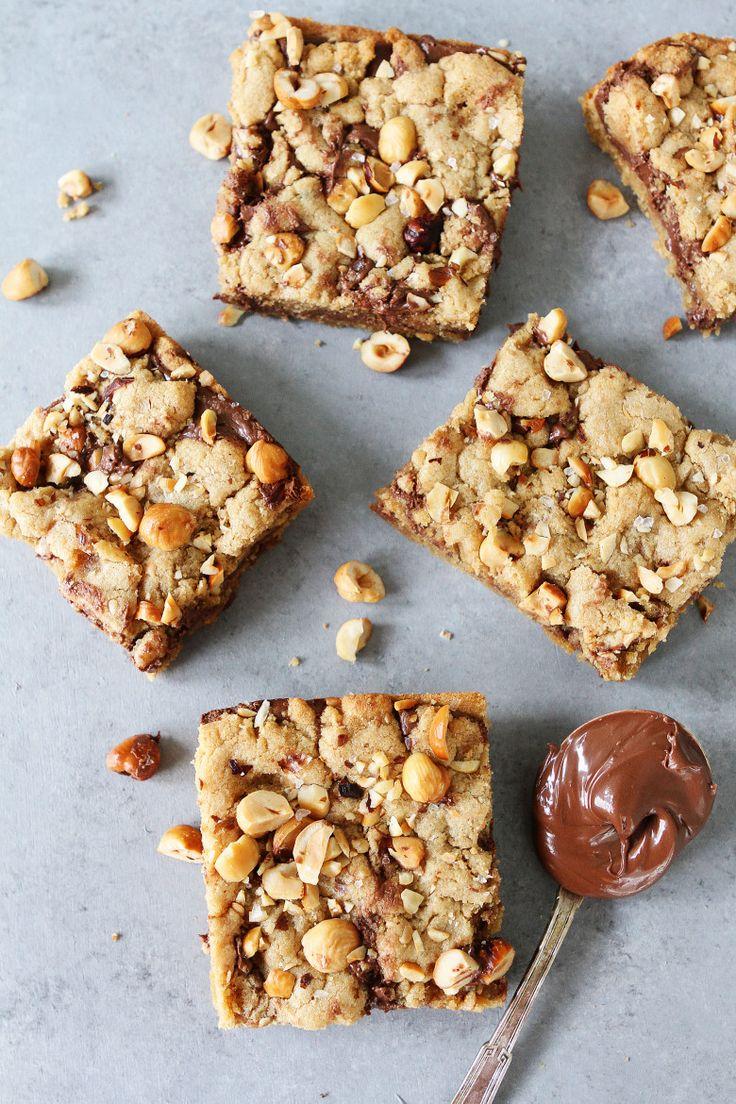 Hazelnut nutella cookie bars recipe nutella cookies