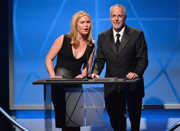 Julia Stiles Photos Photos - Actress Julia Stiles and director Jon Avnet speak on stage atthe 18th Annual Art Directors Guild Exellence In Production Design Awards at The Beverly Hilton Hotel on February 8, 2014 in Beverly Hills, California. - 18th Annual Art Directors Guild Excellence In Production Design Awards - Show