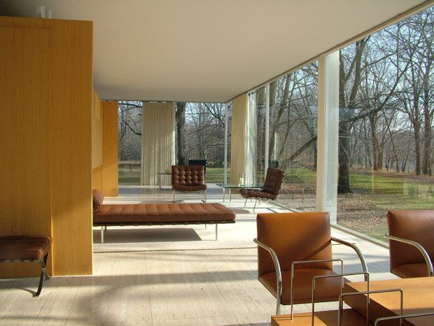 Farnsworth House - no boundaries to nature, love it
