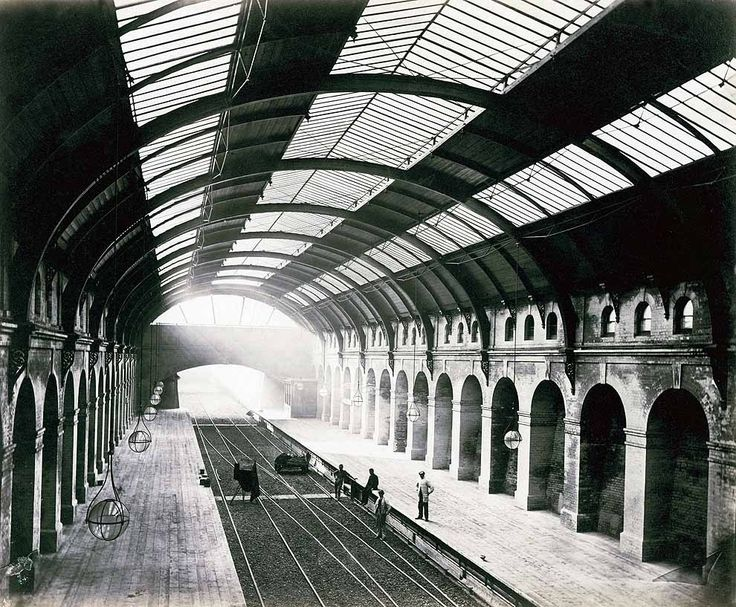 Bayswater Station, just after completion.   15 Victorian Photos Of The London Underground Being Built