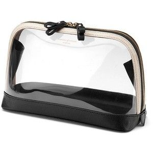 Aspinal of London Large Hepburn Cosmetic Case In Clear Monochrome