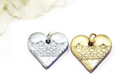 Lace Heart Pendant Beads