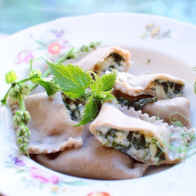 Sting nettle! What a wonderful free growing plant  - it tastes amazing for ex. with pasta! Today I mixed it with feta cheese and used it as ravioli stuffing.  Lets eat more nettle - It's free, all  organic and it actually tastes better than spinach.