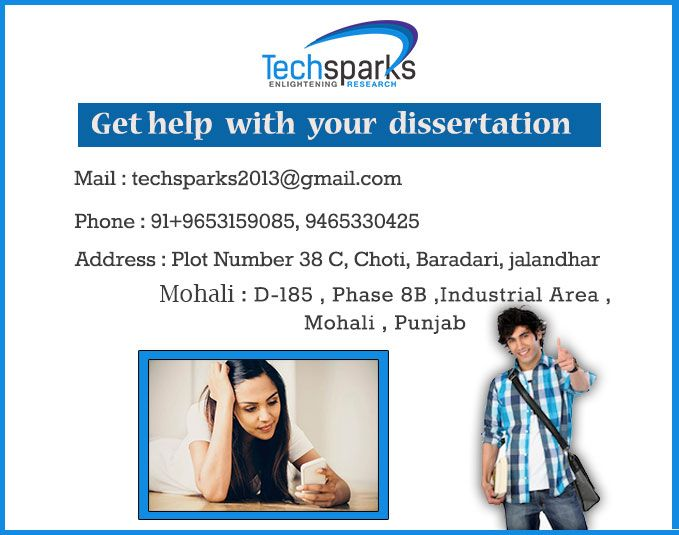 #Techsparks the best institute for #thesiswriting