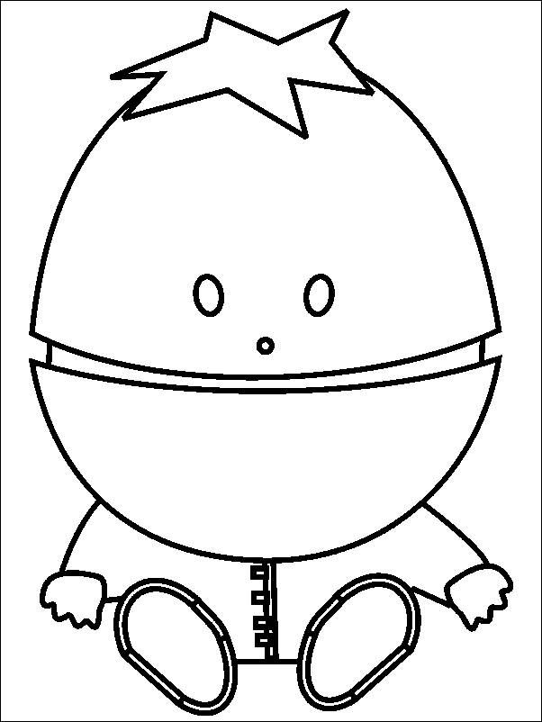 Coloring pages south park - baby