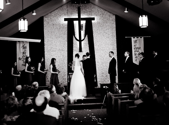 A beautiful wedding ceremony, in a country church!  Photography by Naomi & Samuel Karth © www.thekarths.com