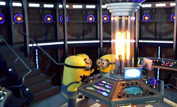 The Minions travel in three different Tardises for Doctor Who-inspired video
