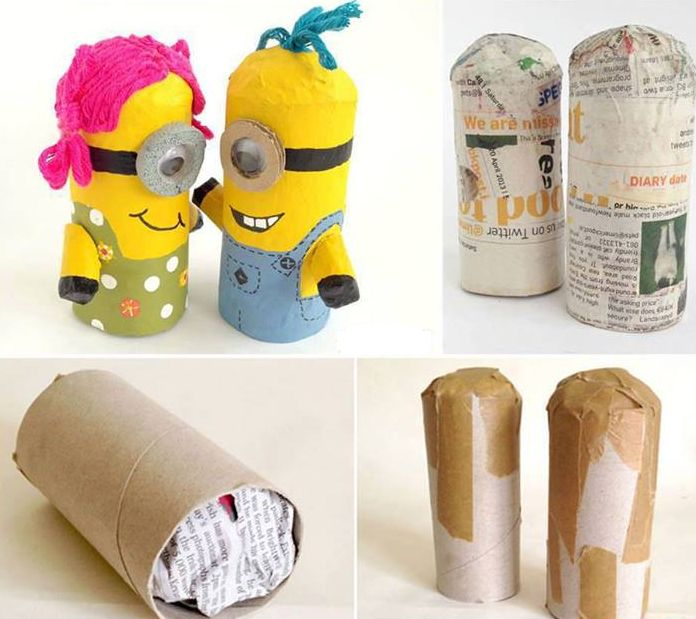 Omg, so cute! So easy for kids to make! I especially like the girl minion…