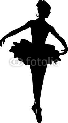 Ballerina Silhouette // Encontrado en fotolia.com Fotolia Ballerina Silhouette por Ganna Smushko en Fotolia