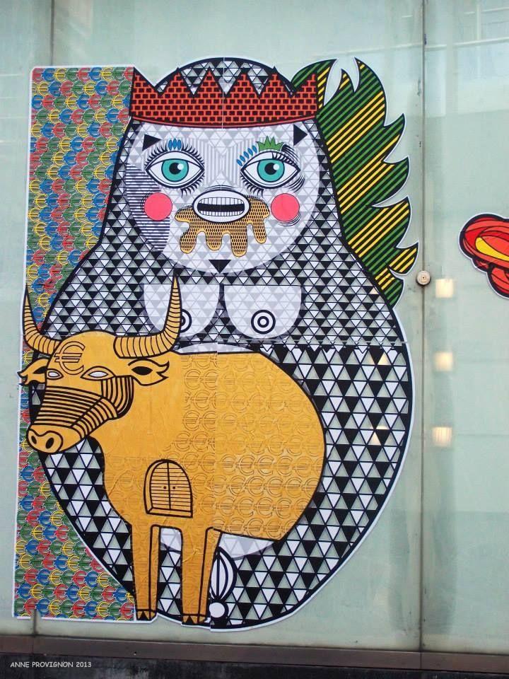 Sara Conti's Puppen - street artist