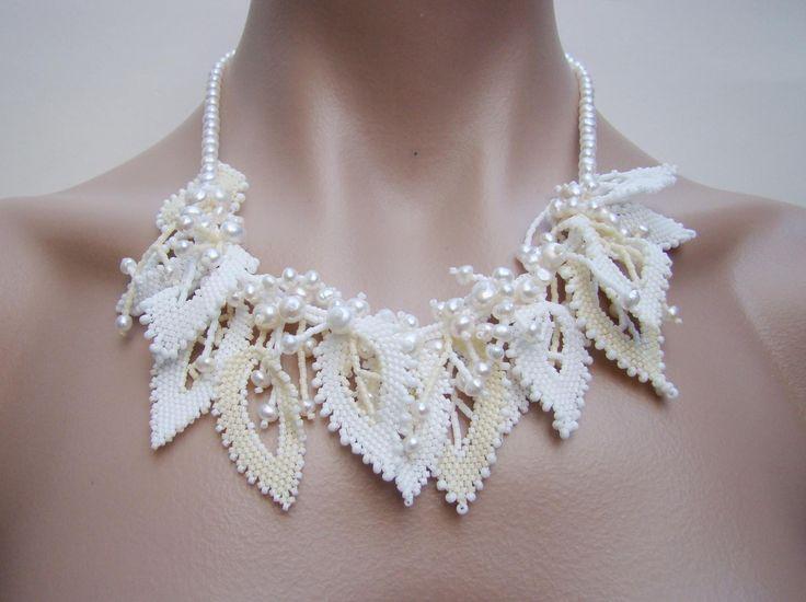 """свадебное ожерелье -"""" Листья"""""""
