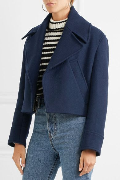 Golden Goose Deluxe Brand - Ména Cropped Wool Jacket - Navy