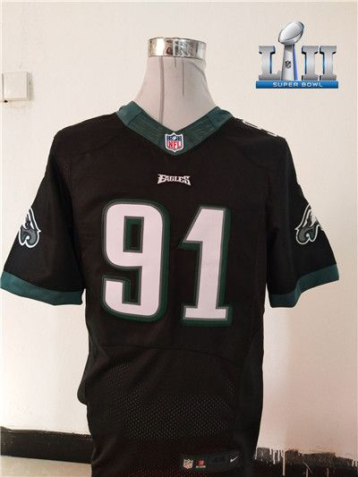 NEW Philadelphia Eagles  91 Fletcher Cox Black Super Bowl LII Alternate NFL  New Elite Jersey  EaglesDraft  FlyEaglesFly  NFLDraft  Eagles   Googlejerseys ... 19f2c8266