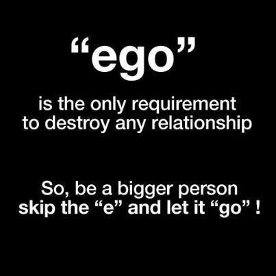 how to get rid of ego in relationships