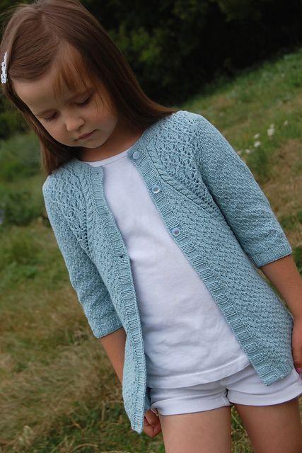 Ravelry: Blossoming flax pattern by Galina Shemchuk Girls coat knitting pattern