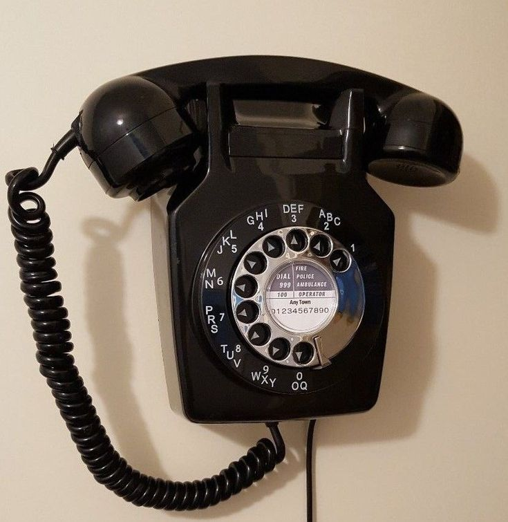 Original Vintage Retro 1970's GPO 741 Rotary Dial Wall Mounted Telephone Restore