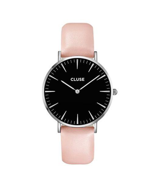 Cluse Hodinky La Bohéme Silver Black/Pink