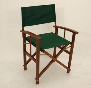 2 x Regisseursstoel, vouwstoel, opklapbare stoel, hardhouten stoel Groen