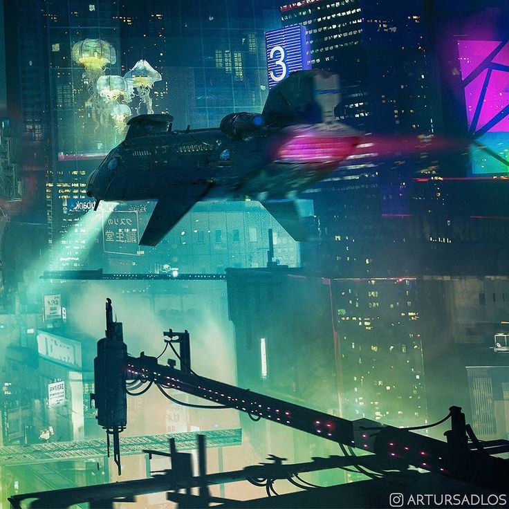 This fragment is done. But there's still some work on other areas of this piece.  Btw I really hope Blade Runner sequel will be good. Trailer looked great so far.  #artursadlos #conceptart #illustration #scifi #cyberpunk #scifiart #digitalart #future #bladerunner #akira #otomo #ghostintheshell #gits #city #neons #hologram