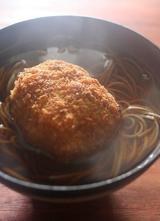 Japanese food / コロッケそば(Croquette Soba)