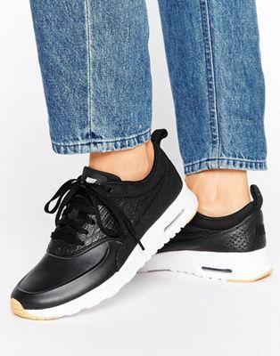 Черные кроссовки-премиум с эффектом кожи рептилии Nike Air Max Thea