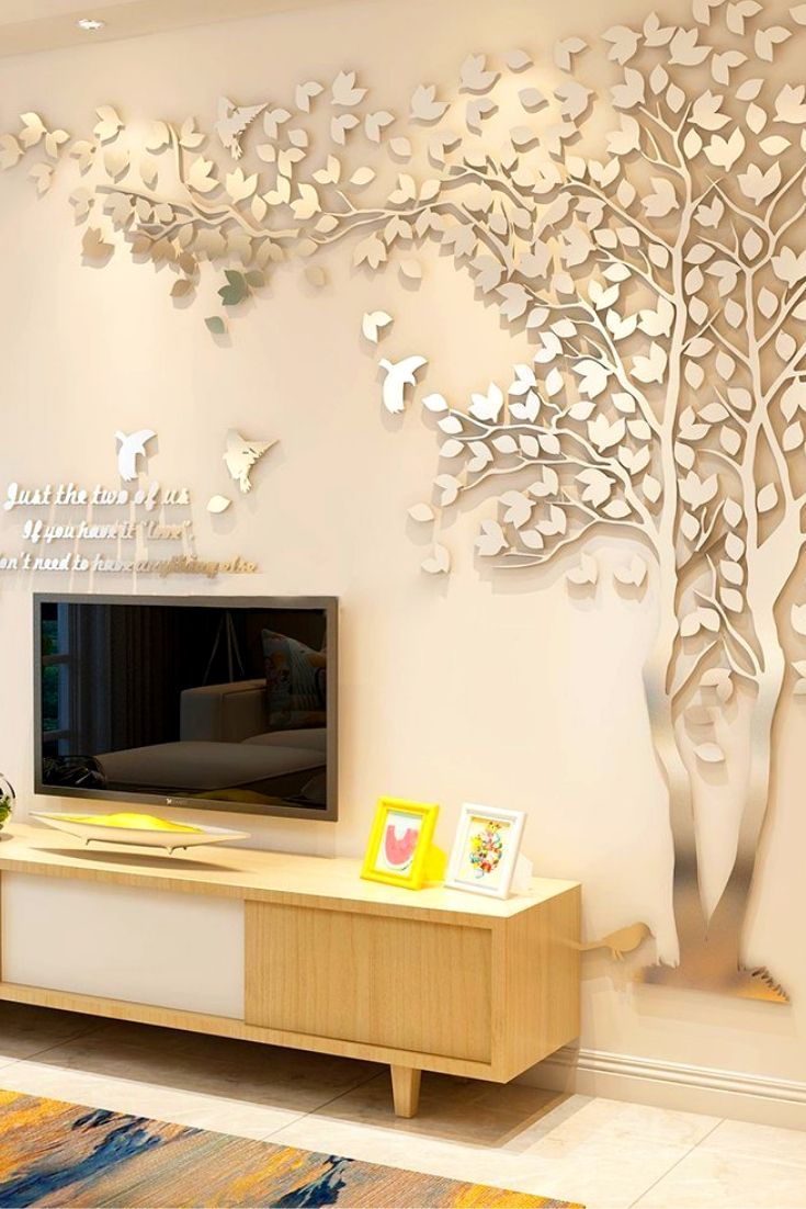 3d Mirror Wall Sticker For Living Room Decorations Wall Stic