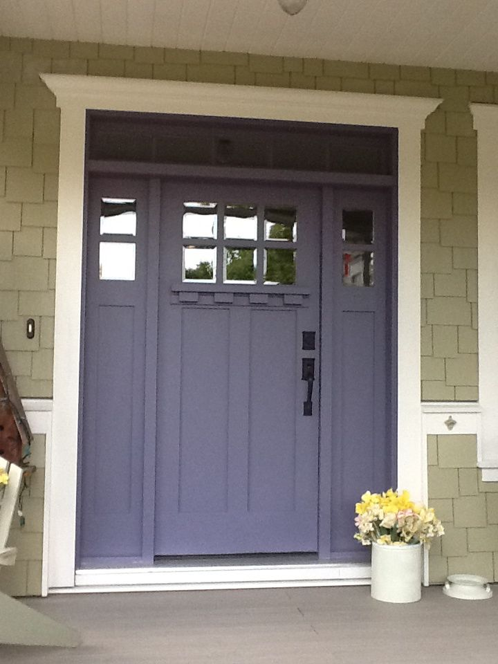 Finished Front Door With Ashfield Hardware And Doorbell