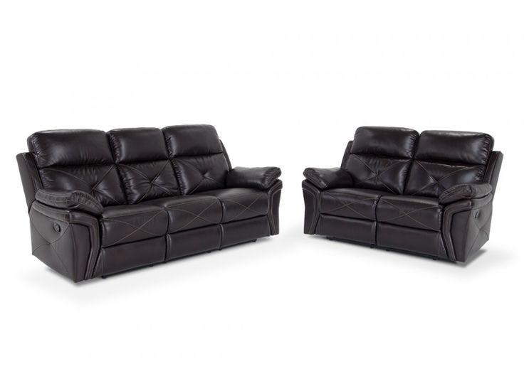 Aries Dual Reclining Sofa & Dual Reclining Loveseat | Bob's Discount Furniture