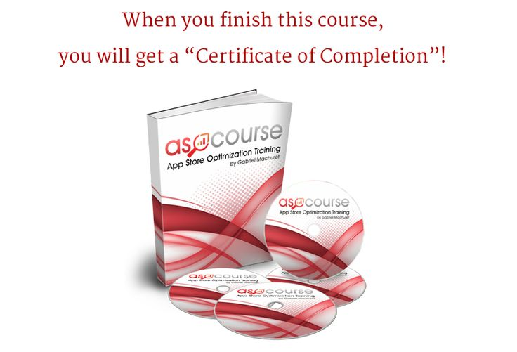 Enroll this #ASO #course and complete it from home !