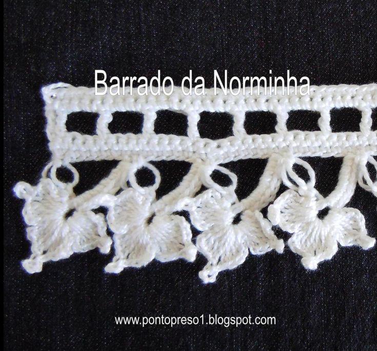 Ponto Preso1: Croche - Uma outra possibilidade de Barrado . . .