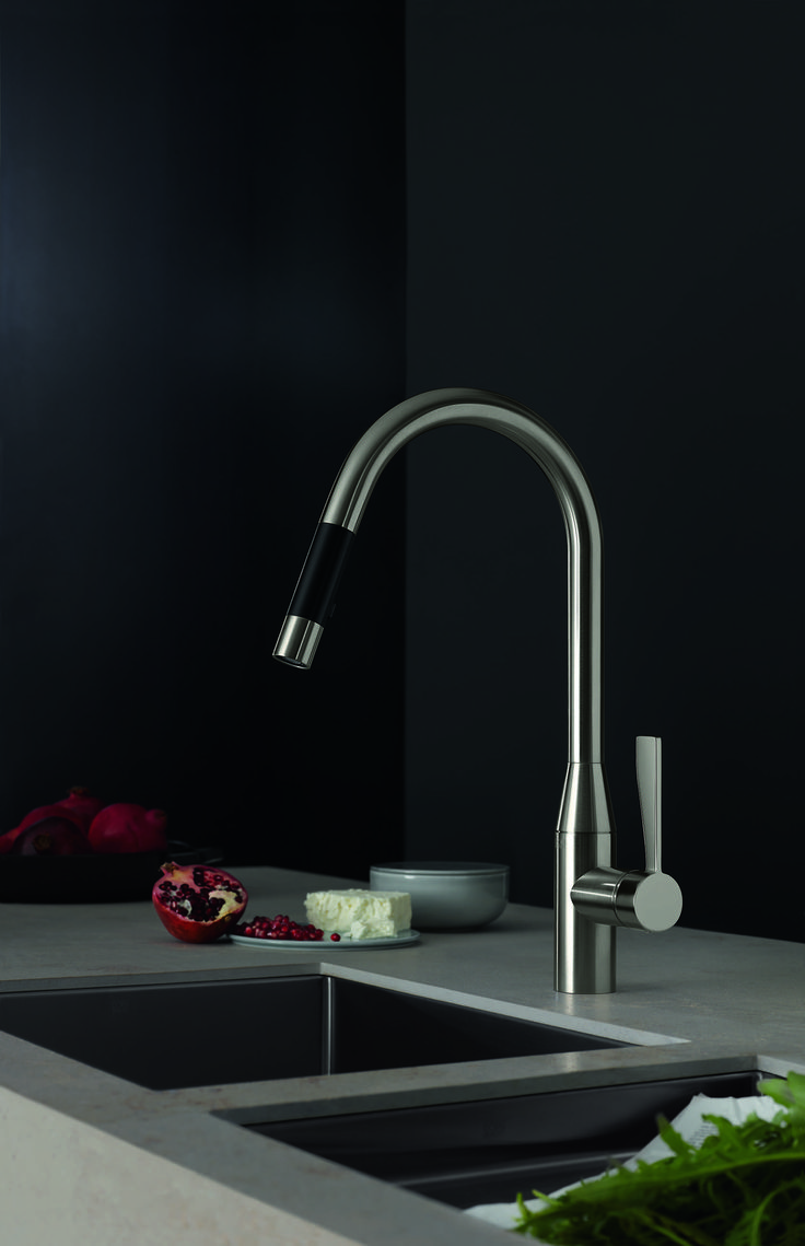 The new pulldown kitchen faucets by Dornbracht from the Sync and Tara Ultra series: TARA ULTRA is the modern interpretation of Tara Classic, specifically for...
