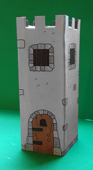 how to make a castle for school project cardboard