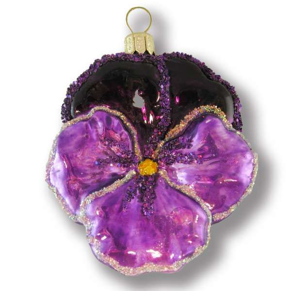 »Country Garden»Violet pansy - Christmas Tree Decorations - Silverado