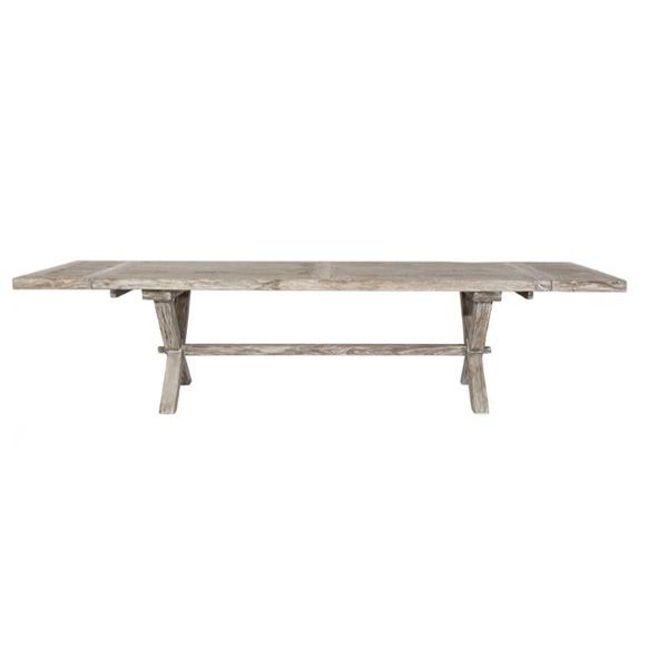 FARMHOUSE Recycled Timber Extension Dining Table - White Wash $3995