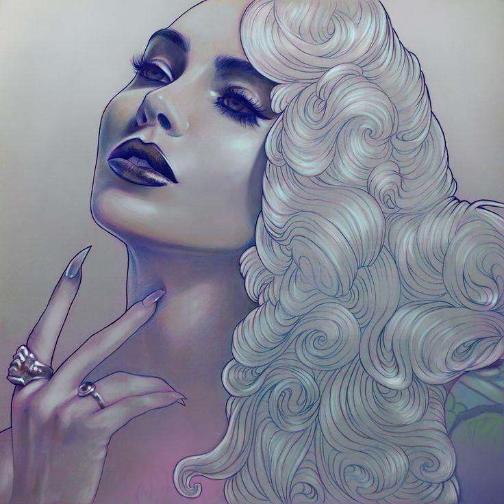 Micheline Pitt - Illustration by Marta Adan -  on Behance